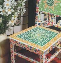 Стул из мозаики (обновляем стулья)