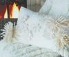 Подушка с хризантемами из фетра