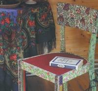 Стул в деревенском стиле