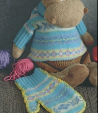 Новые варежки из старого свитера